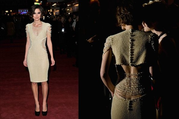 Keira Knightley Chanel Pearl Dress. Keira Knightley in Chanel