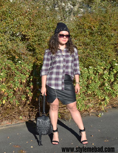 b.a.d. girl style leather and plaid 1
