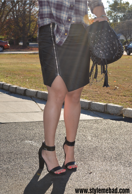 b.a.d. girl style leather and plaid