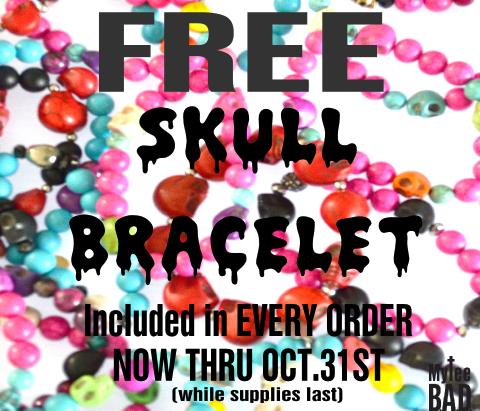 mytee bad skull bracelet