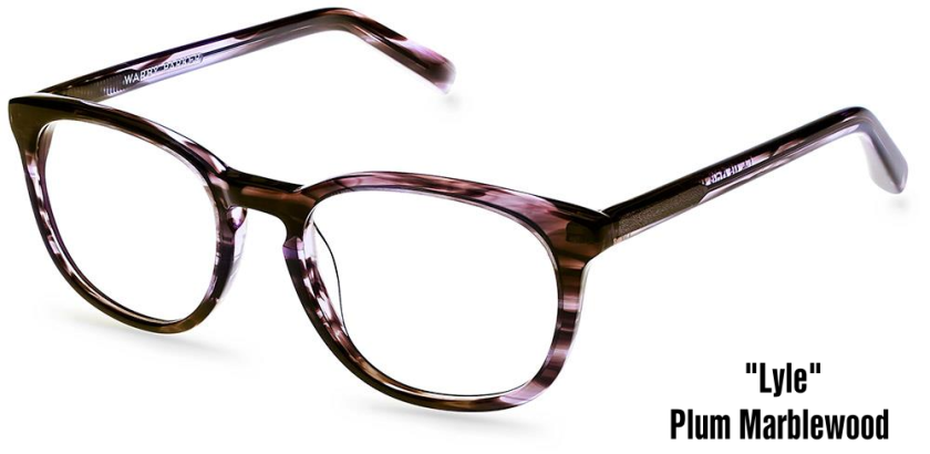 warby parker lyle plum marblewood