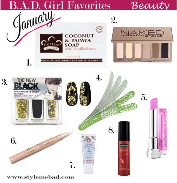 B.A.D. Girl January Beauty Favorites