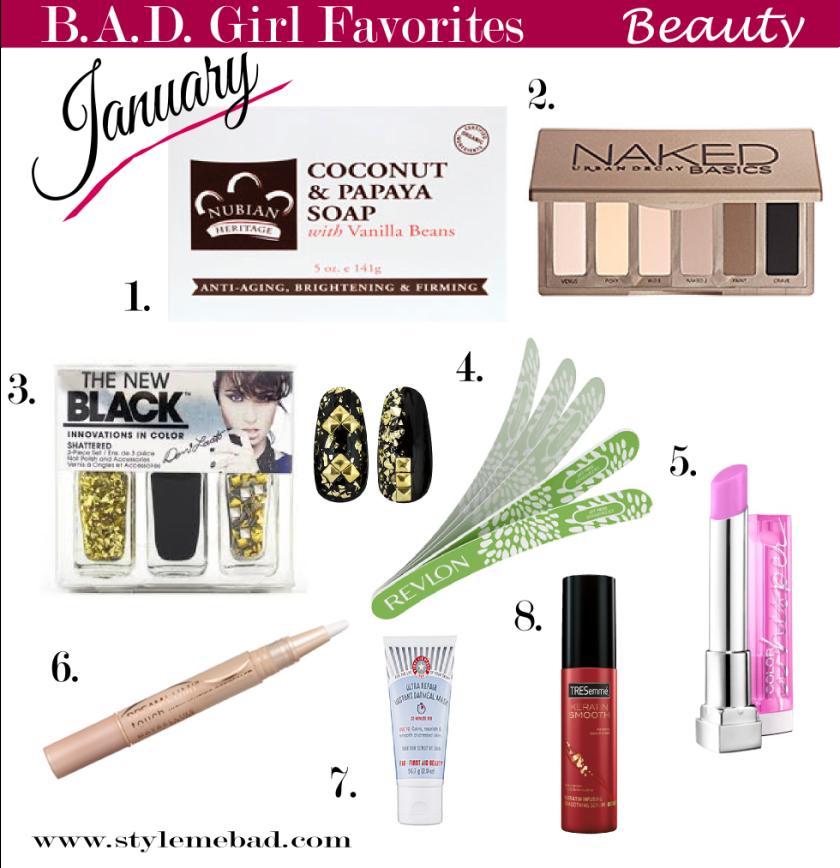 B.A.D. Girl January Beauty Favorites