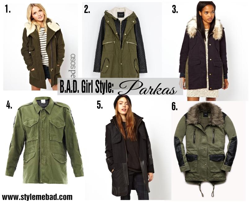 B.A.D. Girl Style Parka Jackets