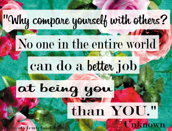 quote about comparing yourself