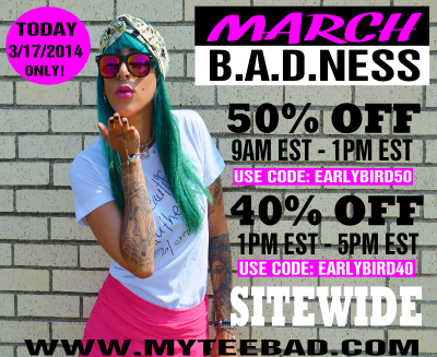 MyTee B.A.D. Clothing Sale