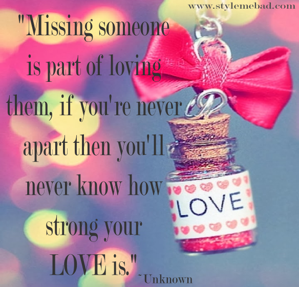 love and distance quote