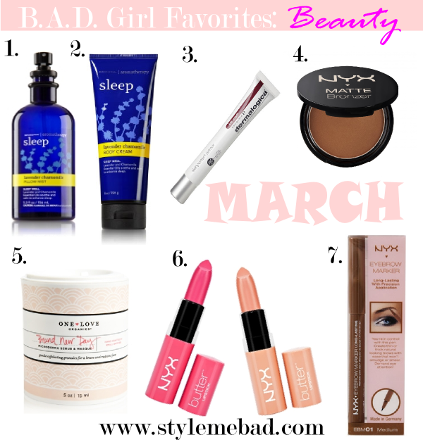 March 2014 beauty favorites