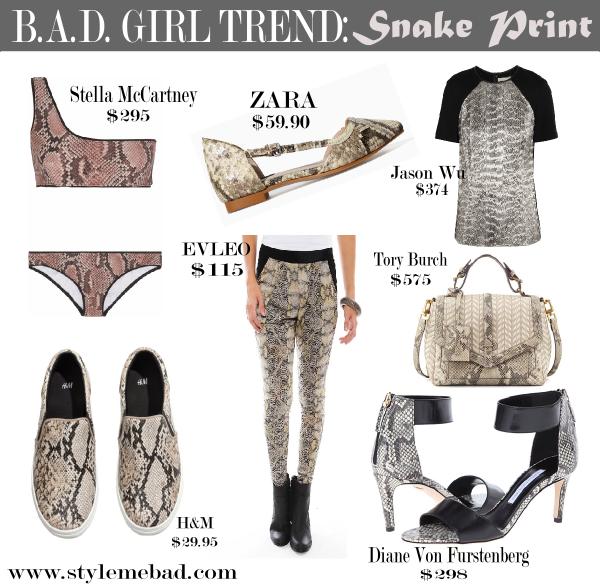 Spring Trend Snake Print