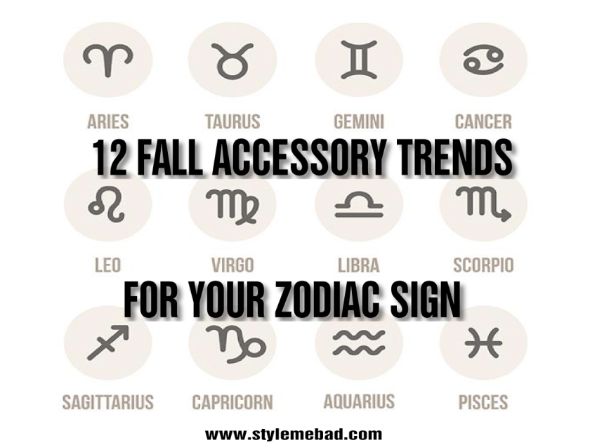 fall trends zodiac