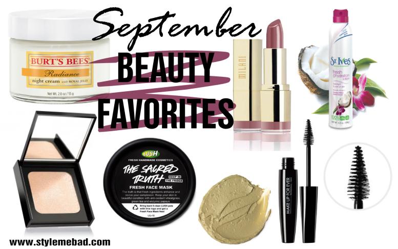 september 2015 beauty favorites