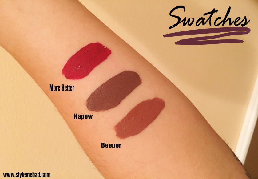 colourpop ultra matte lip swatches